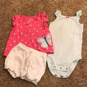 Baby girl butterfly 3pc outfit